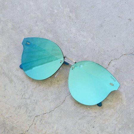 RetroSuperFuture Tuttolente Panama Sunglasses in Azure