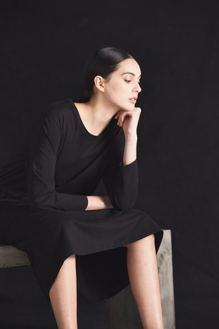 Kowtow Building Block Lounge Dress - Black