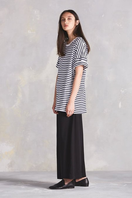 Kowtow Building Block Tall Tee - Blue/White Stripe
