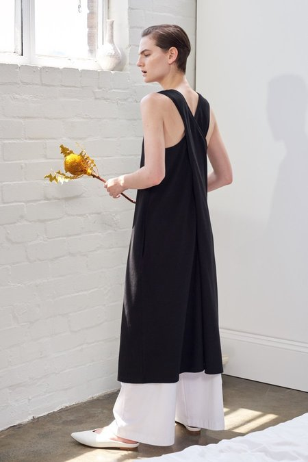 Kowtow Building Block Twist Back Dress - Black