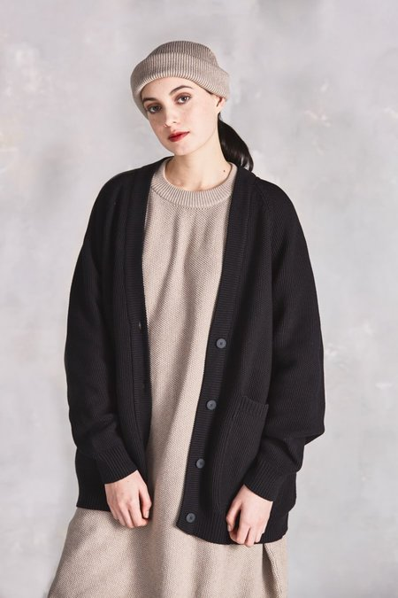 Kowtow Last Days Slouch Cardigan - Black