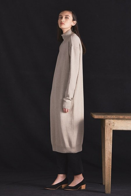 Kowtow Stage Sweater Dress - Dark Oatmeal