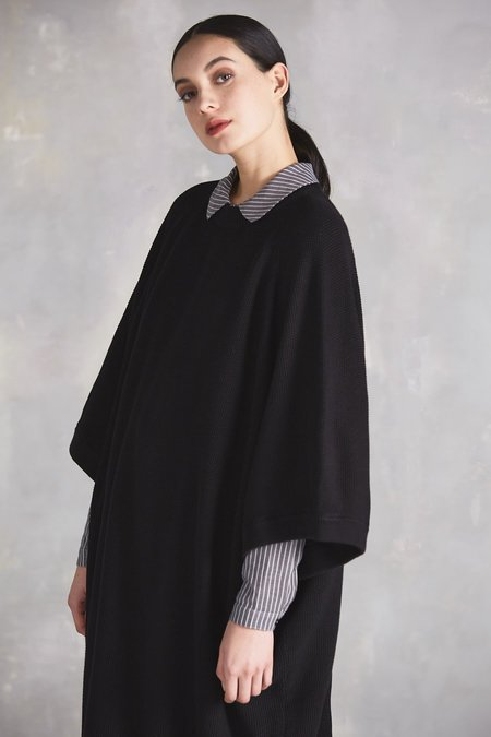Kowtow Voyage Cape Dress - Black