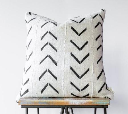 Bryar Wolf Authentic African Mud Cloth Pillow