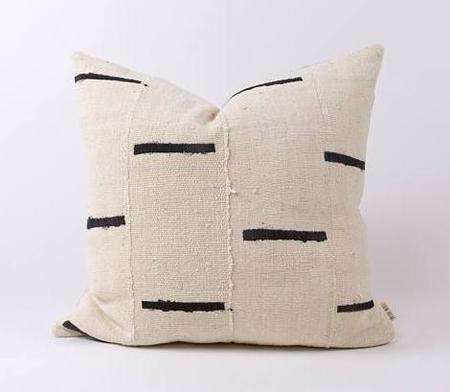 Oak Common Authentic African Mud Cloth Pillow