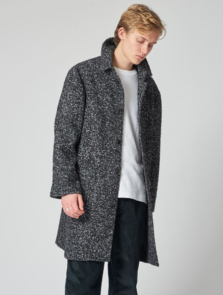 Other Jarvis Salt And Pepper Wool Overcoat