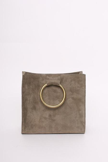 Ceri Hoover Simone Ring Handle Bag in Warm Gray