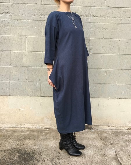 Black Crane Box Dress in Midnight