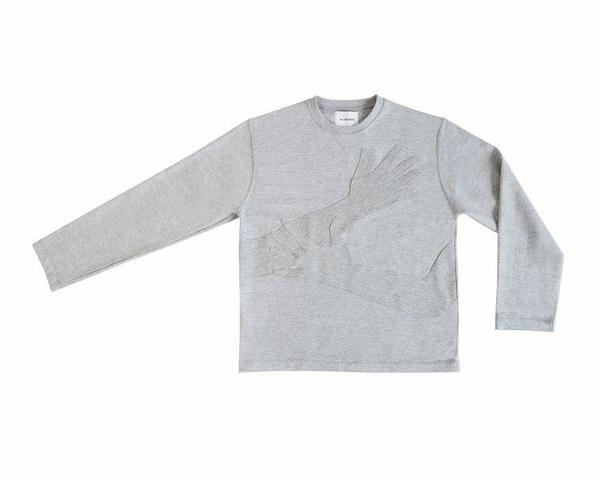 THE LOVABLES HUG ME SWEATER - GRIS