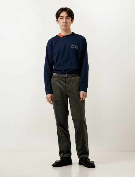 Phingerin Town Trousers - Cord Steel Grey