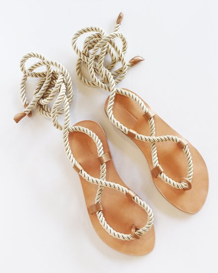 The Palatines Helica Sandal - Champagne + Tan