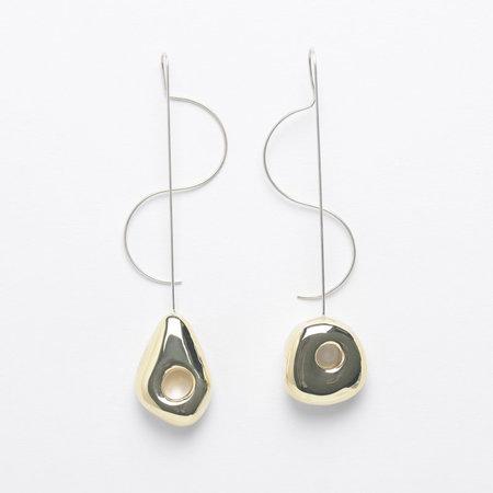 Leigh Miller Two Tone Hepworth Drop Earrings