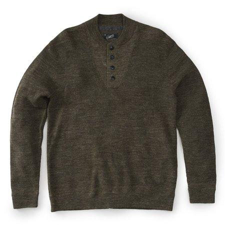Grayers Wadsworth Wool Linen Textured Henley