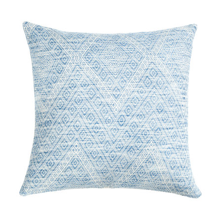 "Archive New York Nahuala Faded Indigo Brocade Pillow - 20""x20"""