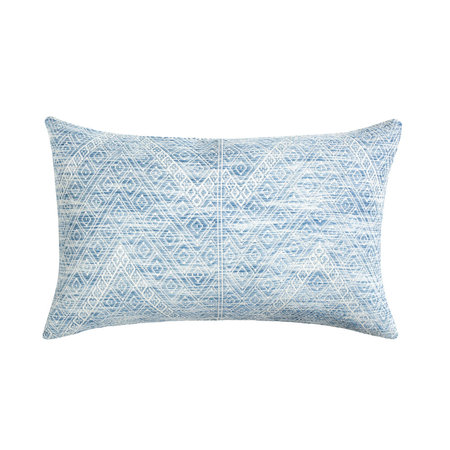 "Archive New York 12""x20"" Nahuala Brocade Pillow - Faded Indigo"