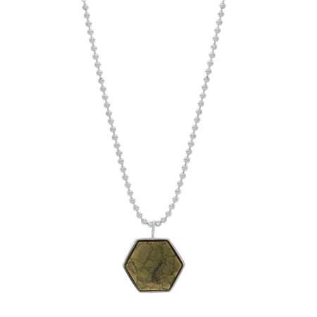Tarin Thomas Beckham Necklace - Pyrite
