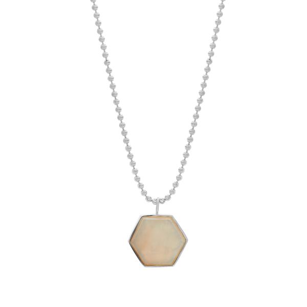 Tarin Thomas Beckham Necklace - White Agate