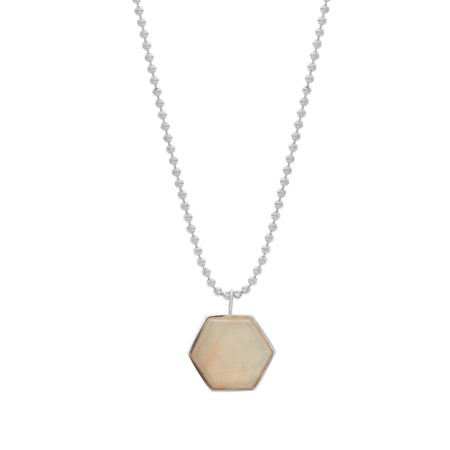 Tarin Thomas Beckham Necklace - White Agate