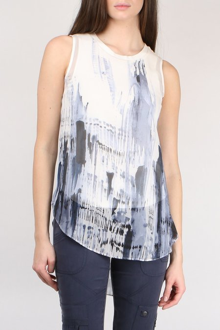 Go Silk Go Double Layer Tails Top