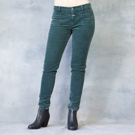 CLOSED CLOTHING Closed Jeans Pedal X in Hamptons Green