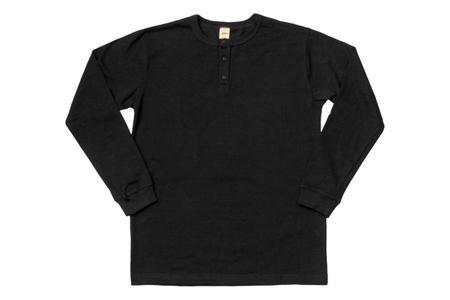 3Sixteen Long Sleeve Henley Black