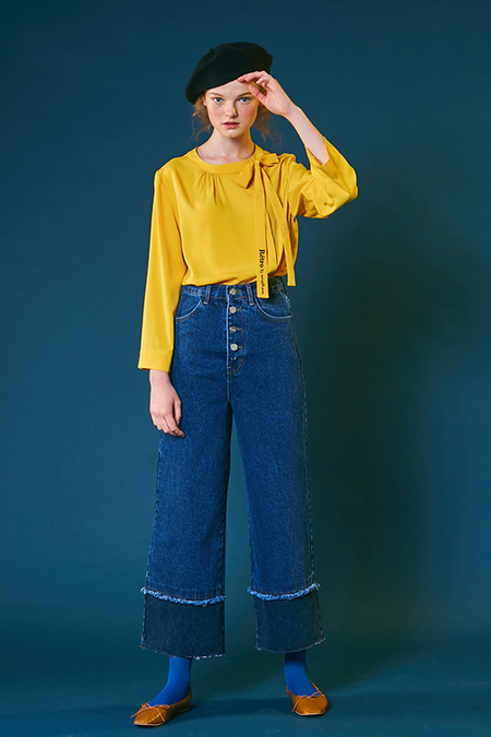 Another. High waist Wide leg denim pants