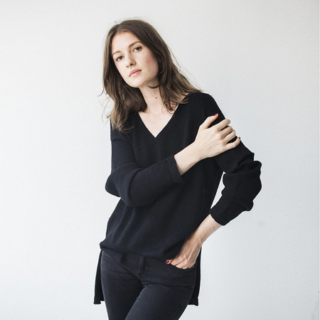 Bare Knitwear Everday V - black