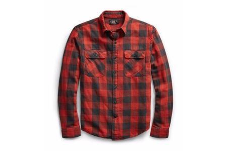 RRL Matlock Plaid Cotton Work Shirt