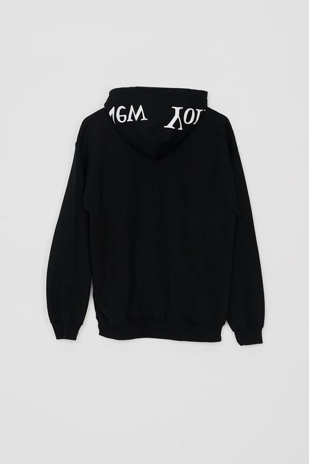 Assembly New York Cotton Logo Hoodie - Black