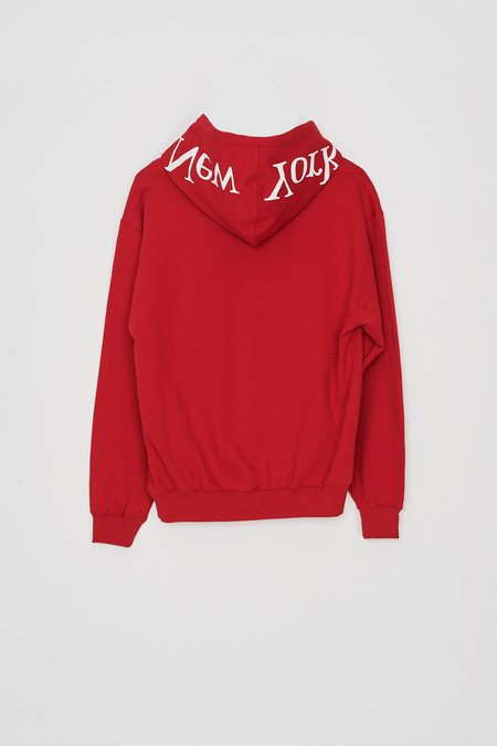 Assembly New York Cotton Logo Hoodie - Red