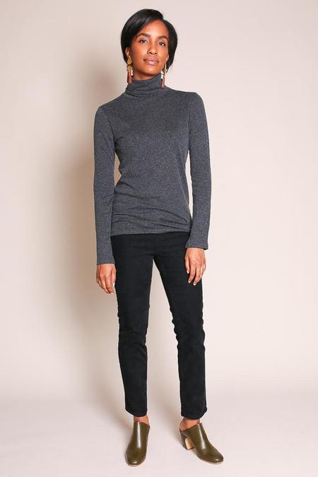 Majestic Cotton/Cashmere Turtleneck in Anthracite
