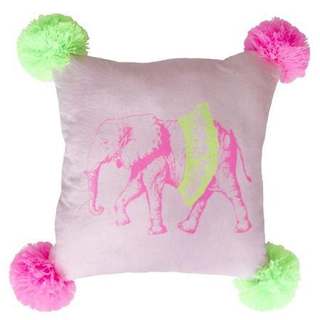 Kids Everbloom studios Elephant Fuzzy Pompom Pillow