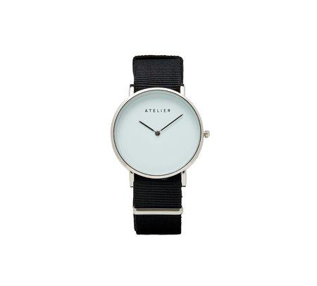 Atelier Canvas Watch - Silver + Black NATO Strap