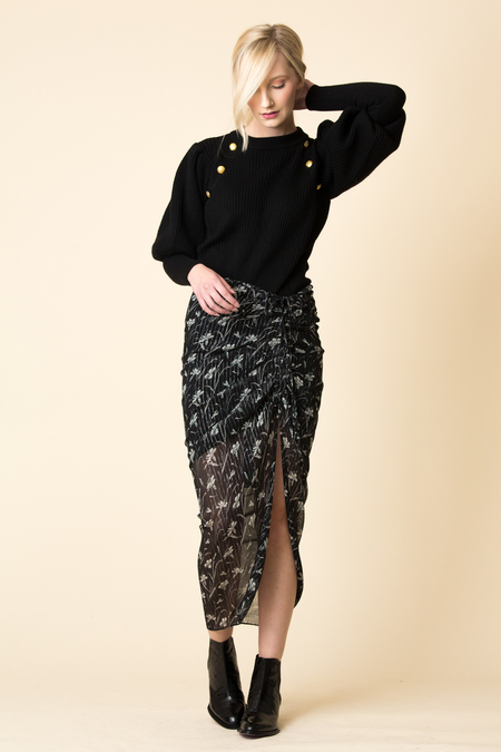 Veronica Beard VB Mae Drawstring Midi Skirt