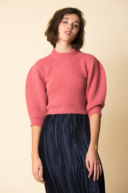 Tibi Cozette Cropped Pullover