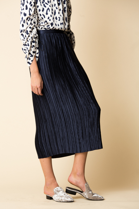 Tibi Plisse Pleated Skirt