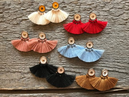 Ora-C Ode Earrings in Blue, Cream, Paprika, Black, Rose and Camel