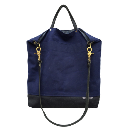 Ali Golden NAVY REVERSIBLE BAG (BLACK STRAP)