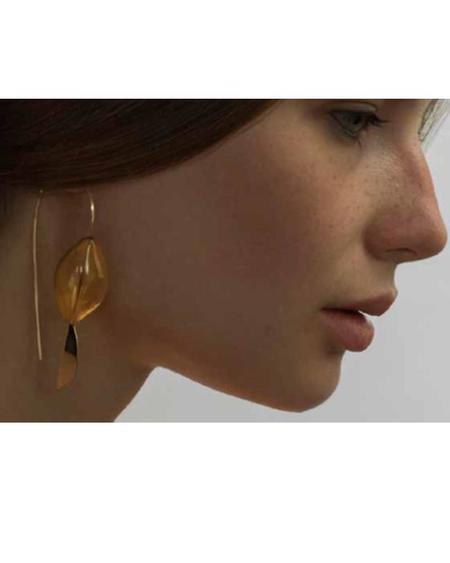 By Boe Amber Hollow Glass Earrings