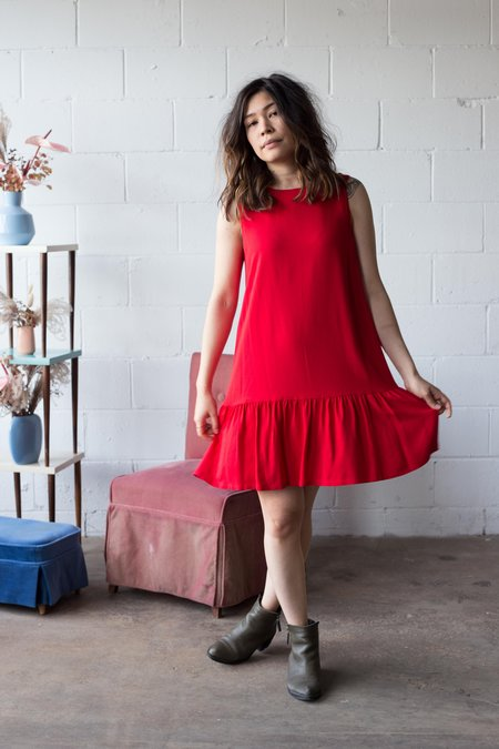 Birds of North America Rosy-Finch Dress - Red