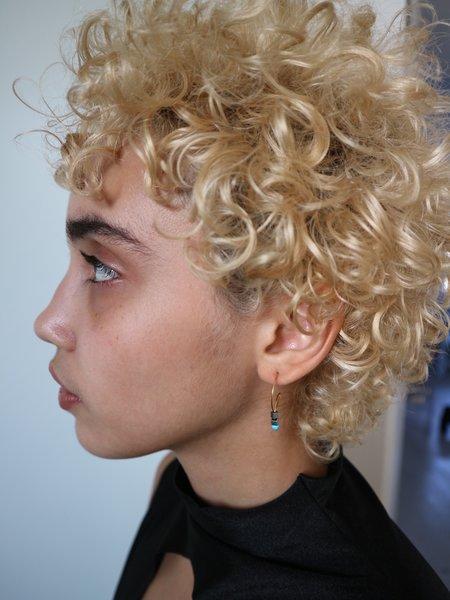 Melissa McArthur Hematite & Turquoise Loop Earrings