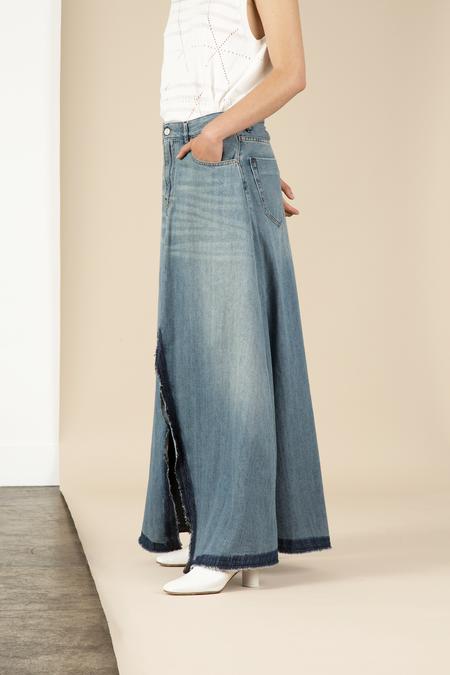 MM6 Bleach Denim Skirt