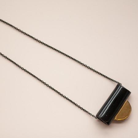 YYY Collar Tab Necklace - Black