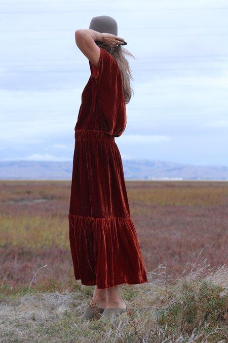 Lindsay Robinson Velvet Skirt