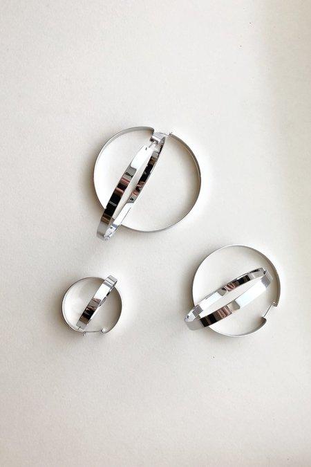 Machete Sterling Silver Mirrored Suzi Hoops