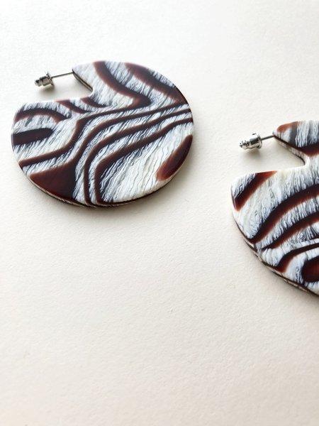 Machete Clare Earrings in Acajou