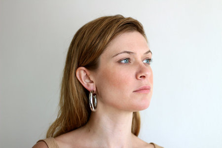 Machete Limited Edition Silver Oval Tube Earrings