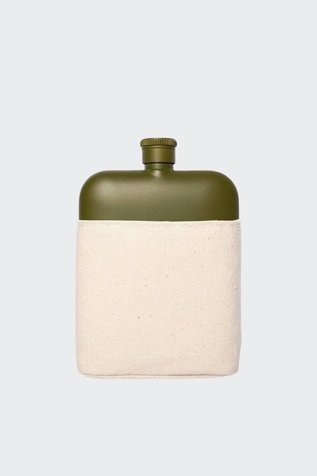Izola Army 6OZ Flask With Canvas Carrier