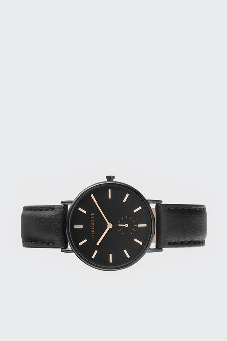 The Horse Classic Watch - black/black leather