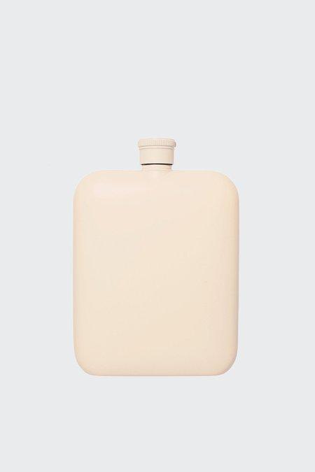 Izola Cream 6OZ Flask With Canvas Carrier